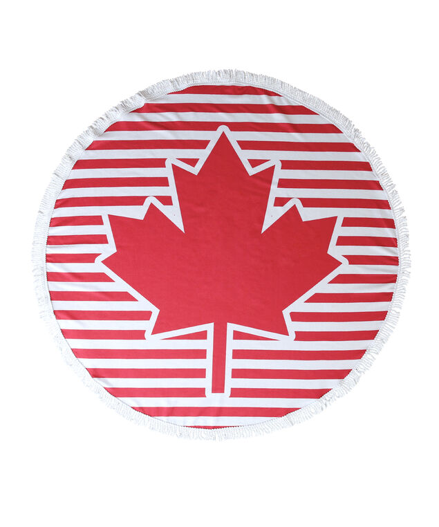 canada day beach blanket, RED MULTI, hi-res