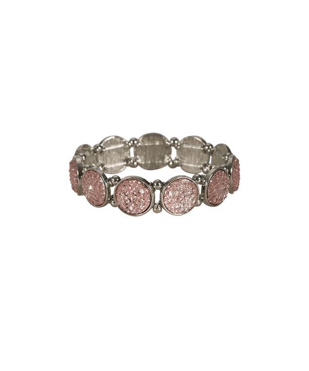 Circular Stone Bracelet, Misty Pink/Rhodium, hi-res