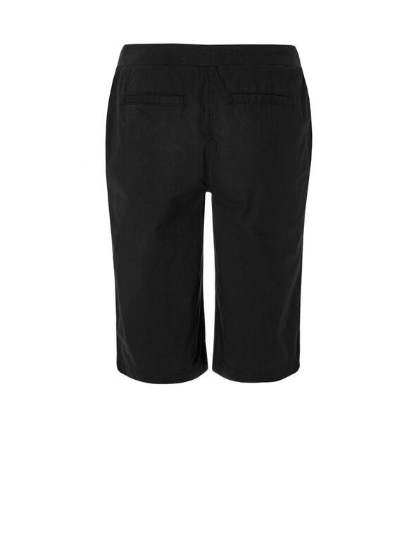 Black Poplin Short, Black, hi-res