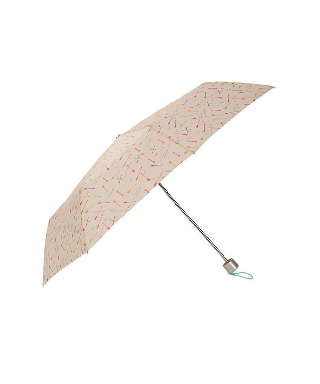 Arrow Print Umbrella, White/Pink/Blue, hi-res