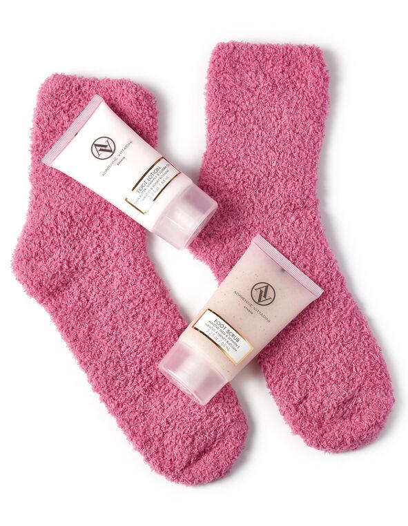Pink Luxury Foot Care Set, Pink, hi-res