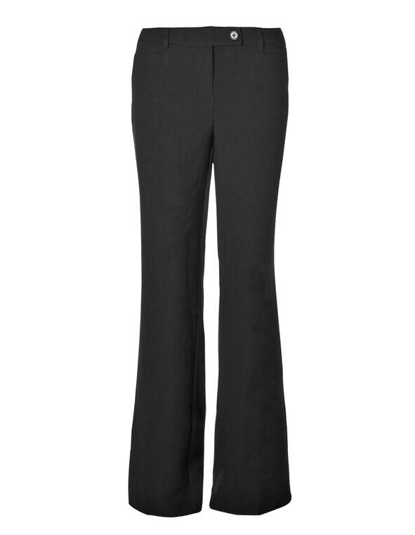 Curvy Black Trouser Pant, Black, hi-res