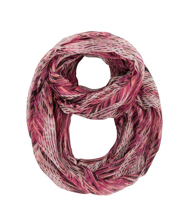Pink & Orange Brushstroke Eternity Scarf, Pink/Black/Orange, hi-res