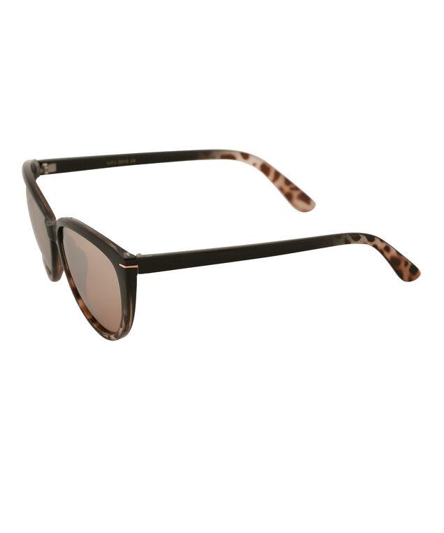 Cateye Ombre Sunglasses, Black/Brown, hi-res