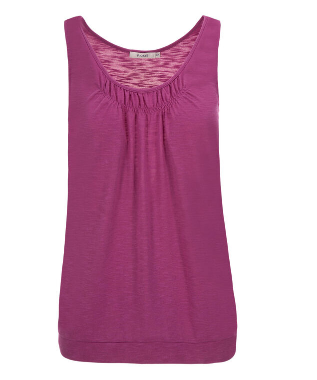 Smocked Neck Banded Bottom, Mid Violet, hi-res