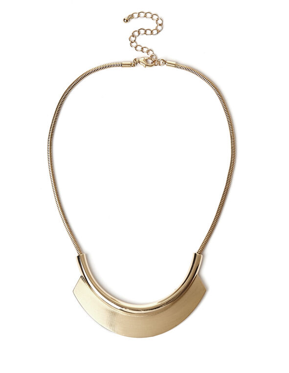 Gold Collar Necklace, Gold, hi-res