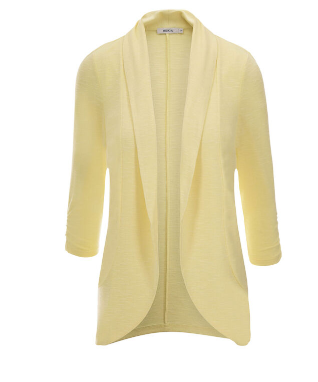 Shawl Collar Cover-Up, Yellow, hi-res