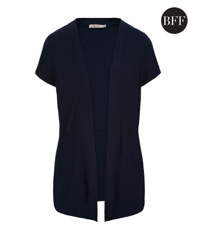 Short Sleeve Cover Up, Deep Blue, hi-res