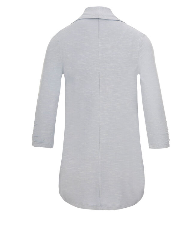 Shawl Collar Cover Up, Light Blue, hi-res