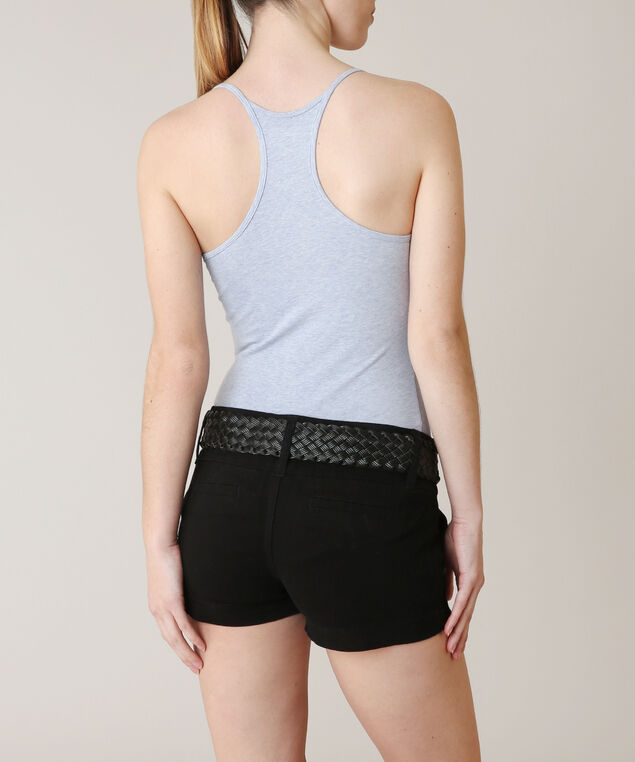 trouser short with belt, BLACK/BL, hi-res