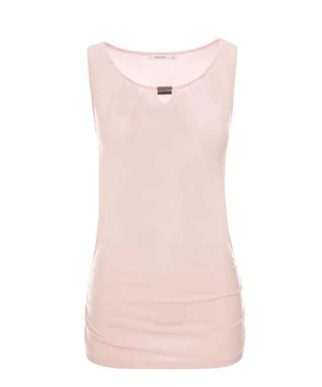 Ruched Side Hardware Top, Pink, hi-res