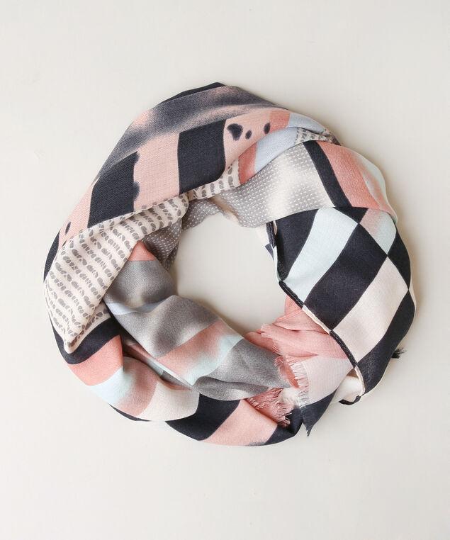 splatter print scarf, BLUE/PINK, hi-res