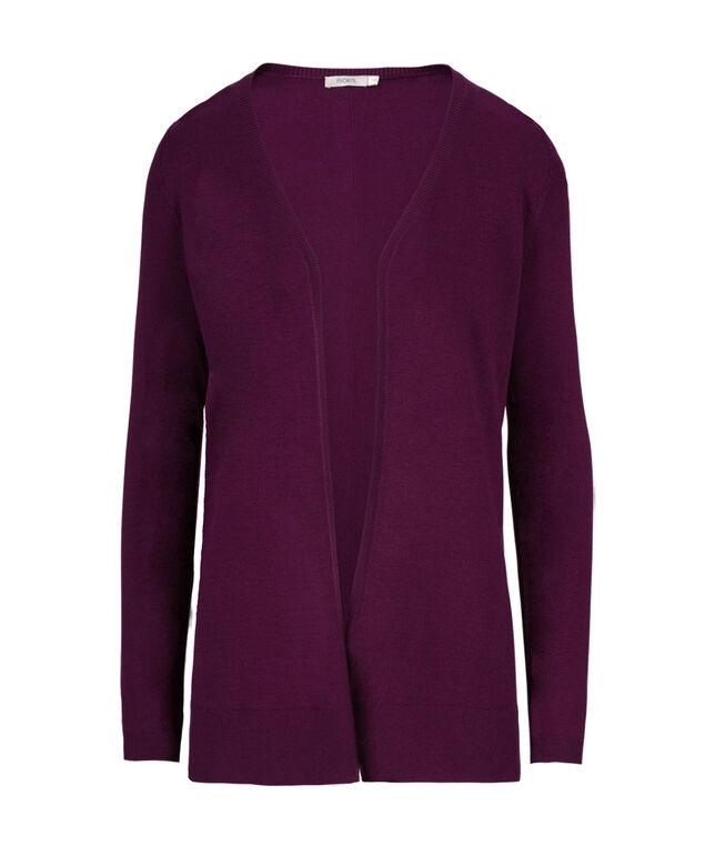 Fine Gauge Open Cardi, Ultra Purple, hi-res