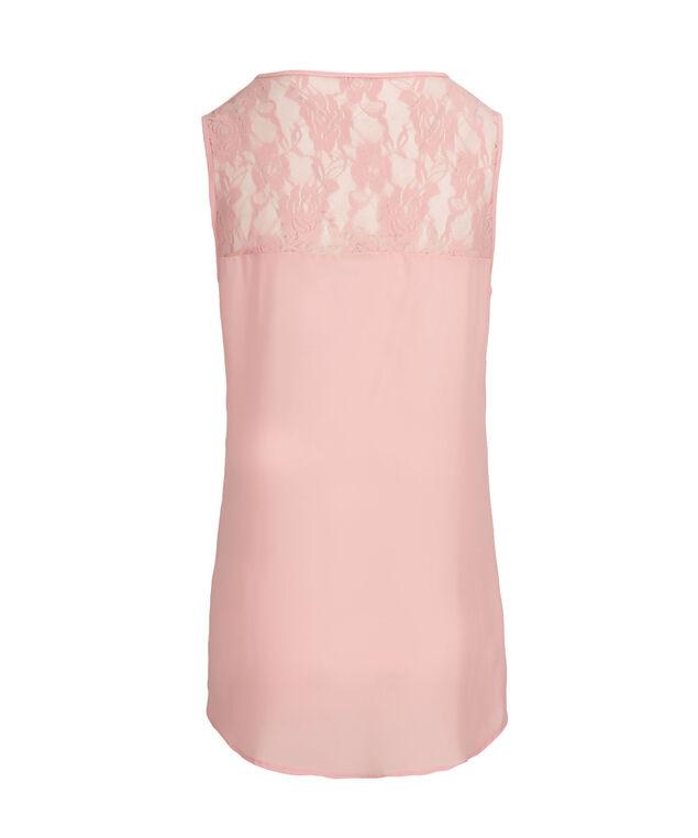 Lace Trim Blouse Tank, Misty Pink, hi-res