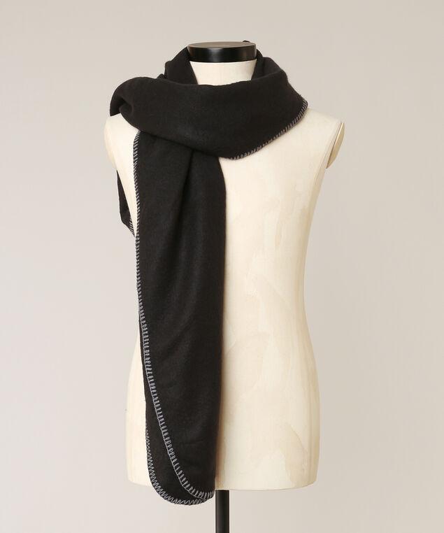 plush scarf, BLACK, hi-res