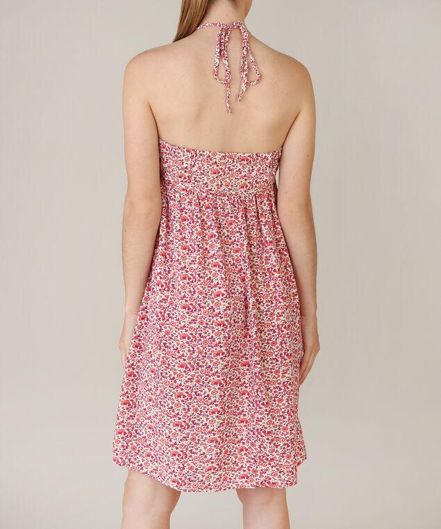 tie front dress, PINK PRINT, hi-res