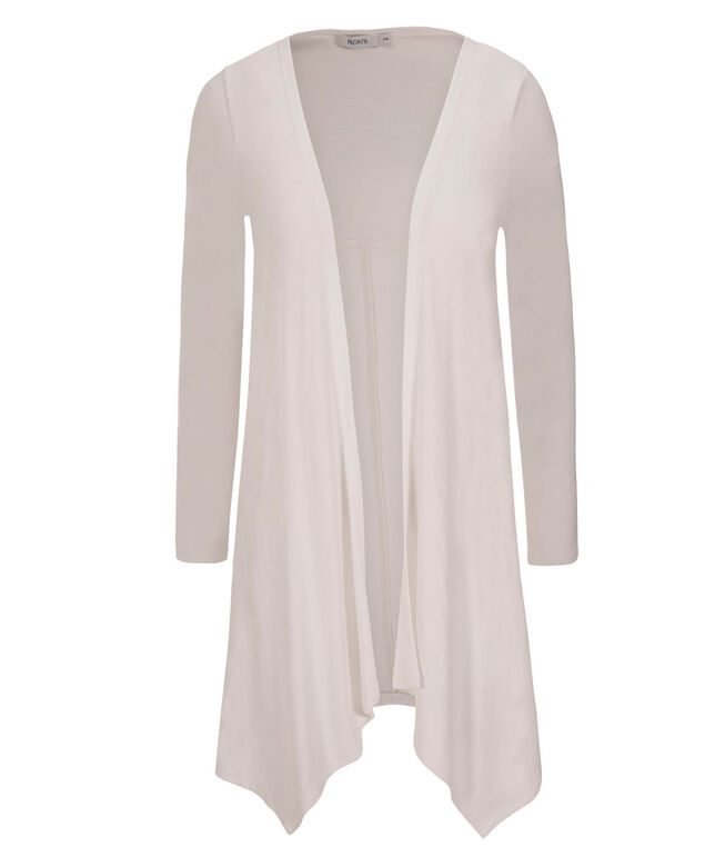 Back Seamed Cardi, True White, hi-res