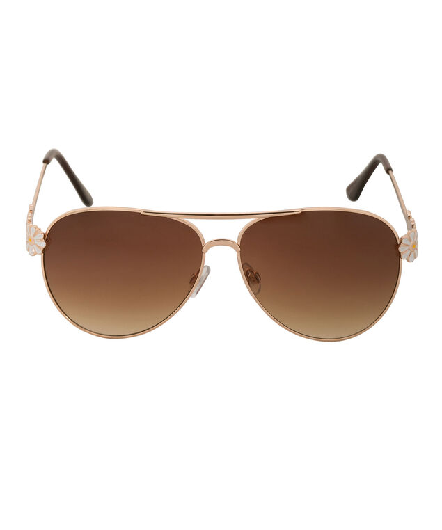 Epoxy Daisy Sunglasses, White/Yellow/Gold, hi-res