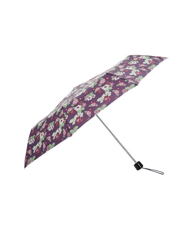 Floral Print Umbrella, Purple, hi-res