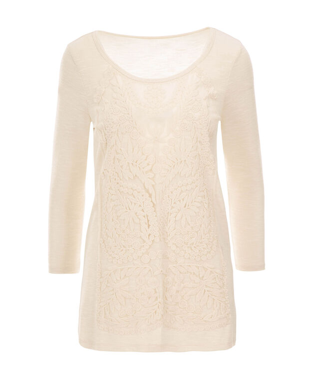 Long Sleeve Lace Hacci, Almond, hi-res