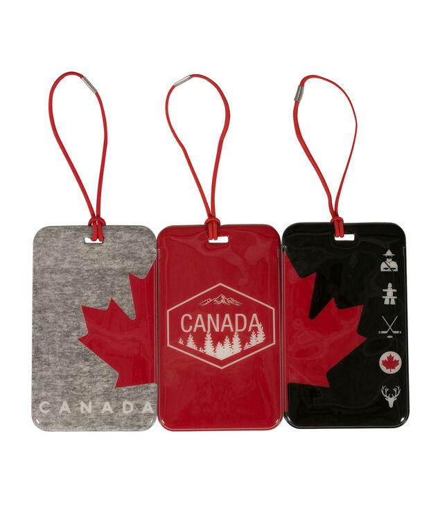 Canada Luggage Tags, Red/Black/Grey, hi-res