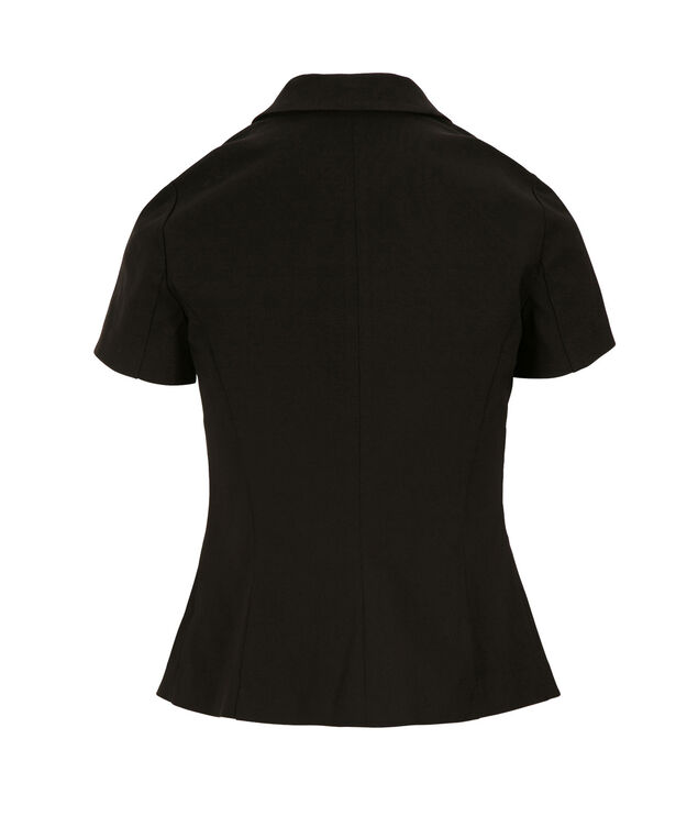 Short Sleeve Blazer, Black, hi-res
