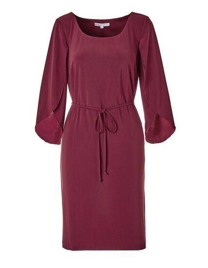 Tulip Sleeve Sheath Dress, Clay, hi-res