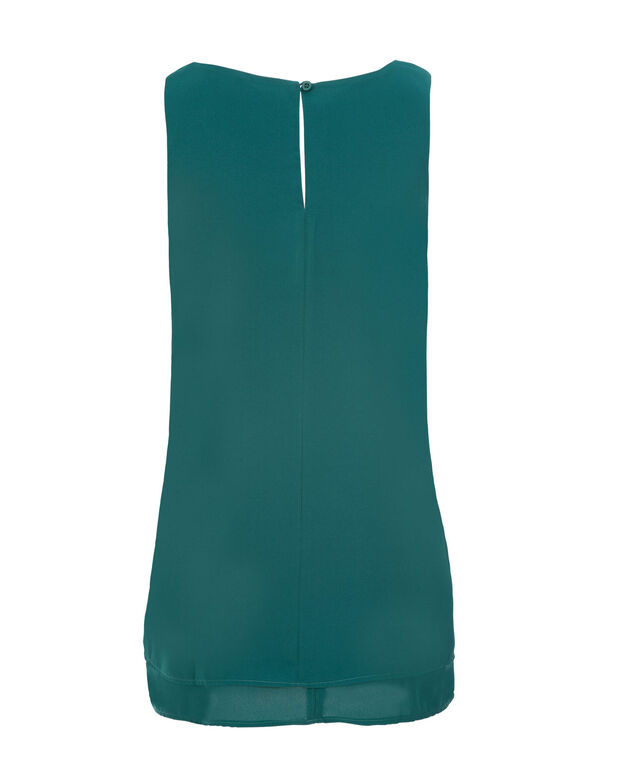Layered Studded Tank, Bright Teal, hi-res