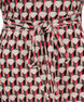 Dolman Cold Shoulder Tunic, Coral Print, hi-res