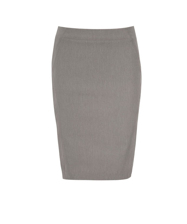 Pull On Pencil Skirt, Heather Grey, hi-res