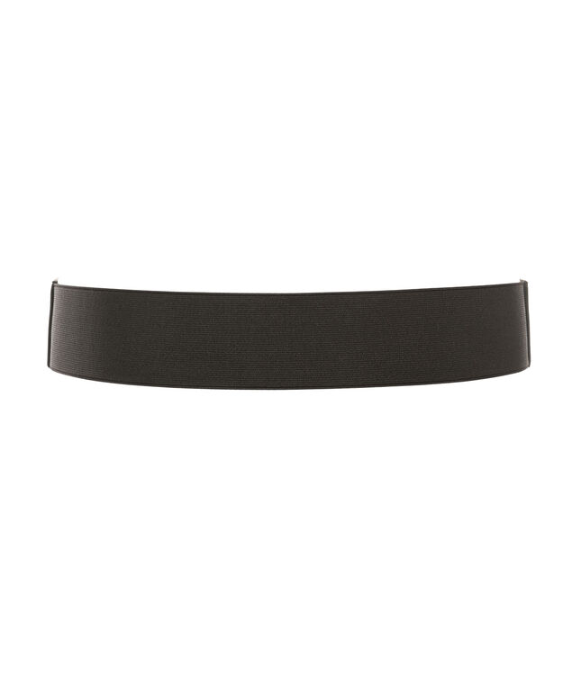 Buckle Stretch Belt, Black, hi-res