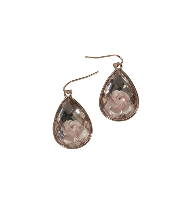 Flower Stone Earring, Misty Pink/Rose Gold, hi-res