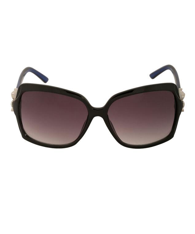 Flower Temple Detail Sunglasses, Sapphire/Blue, hi-res
