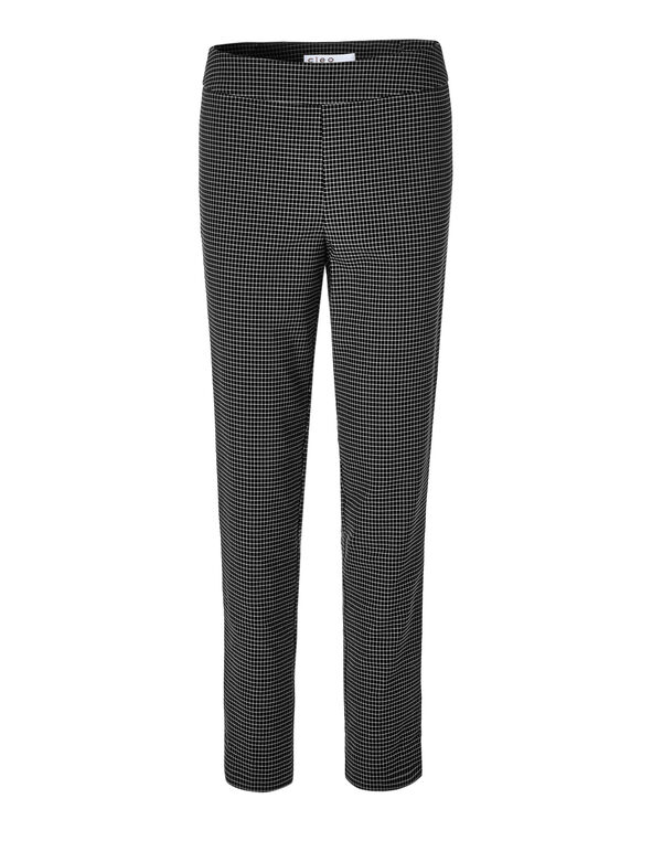 Mini Windowpane Ankle Pant, Black/White, hi-res