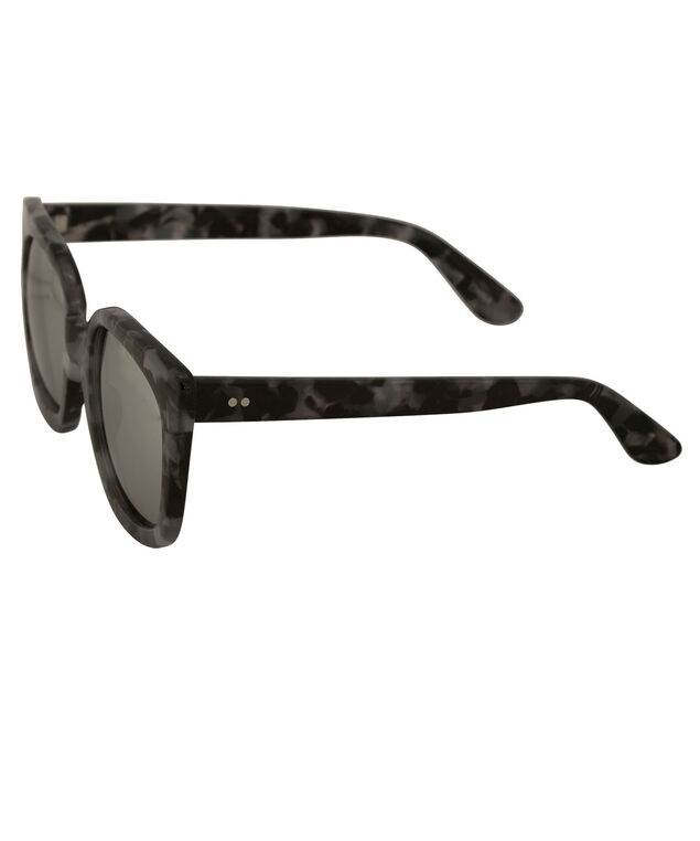 Slight Cateye Arm Detail Sunglasses, Grey Pattern, hi-res