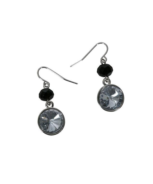 Sapphire Back Earring, Sapphire/Black/Rhodium, hi-res