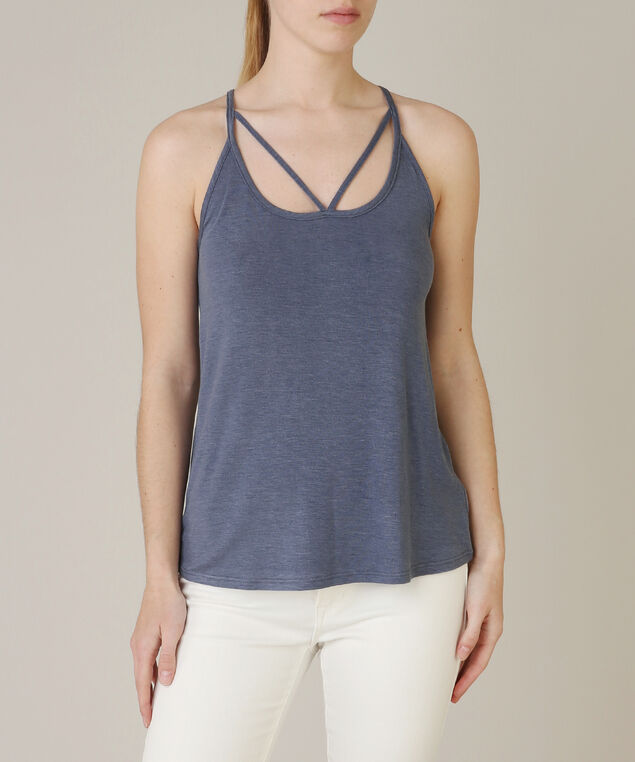 lattice tank top - wb, NAVY, hi-res