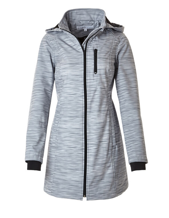 Grey Soft Shell Active Coat, Grey Print, hi-res