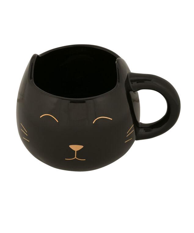 Black Cat Ceramic Mug, Black, hi-res