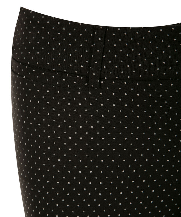 Microtwill Fly Front Capri, Black/White Dot, hi-res