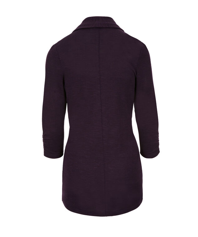 Shawl Collar Cover Up, Deep Purple, hi-res