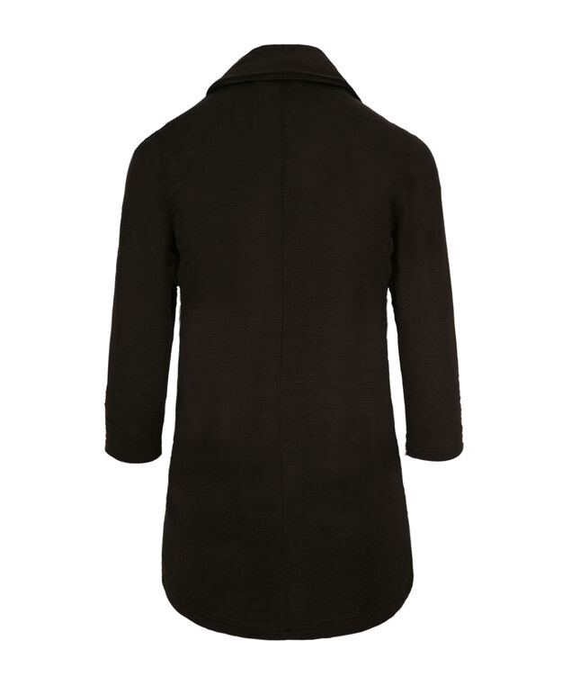 Shawl Collar Cover-Up, Black, hi-res