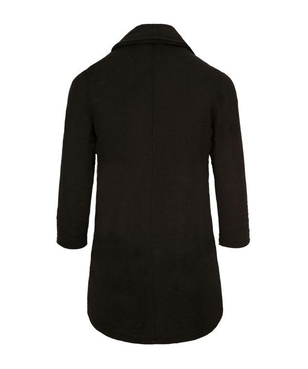 Shawl Collar Cover-Up, Black, hi-res