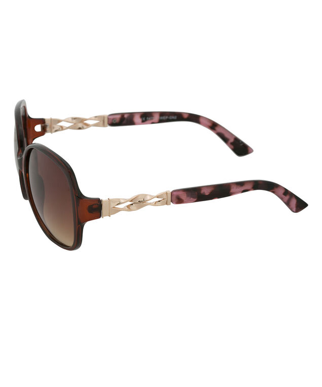 Pink Camo Arm Sunglasses, Brown/Pink, hi-res
