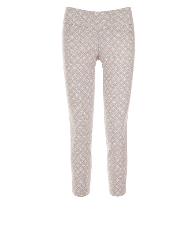 Microtwill Crop Super Slim Leg , Grey/White Print, hi-res