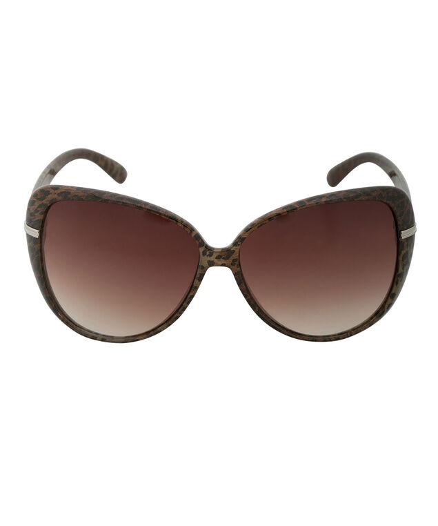 Animal Print Sunglasses, Brown, hi-res