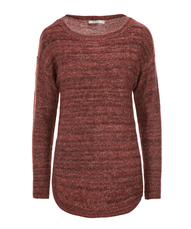 Spacedye Pullover Sweater, Wineberry, hi-res