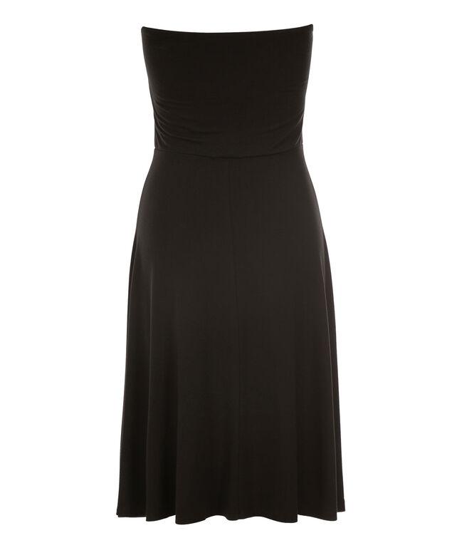 Bandeau Convertible Skirt Dress, Black Print, hi-res