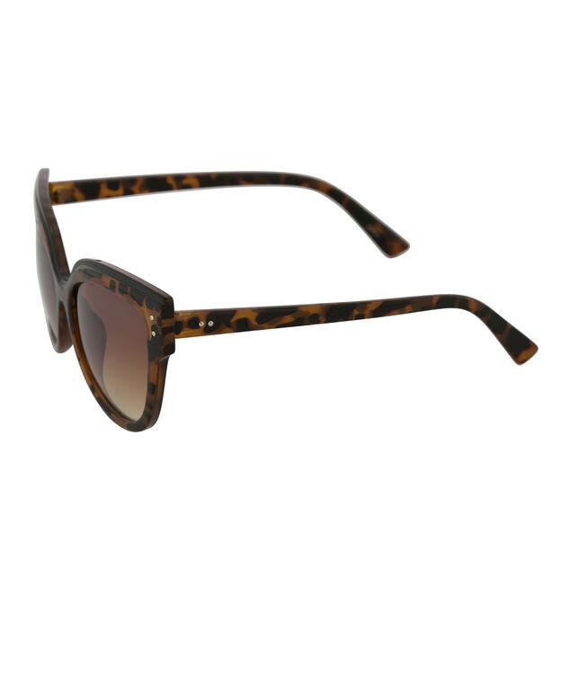 Corner Detail Sunglasses, Tortoiseshell, hi-res