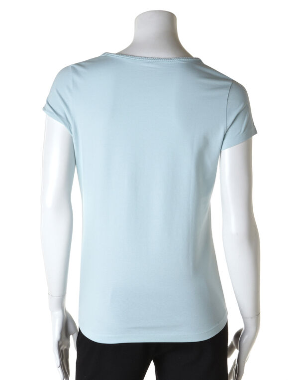 Braided Square Neck Tee, Sea Green, hi-res